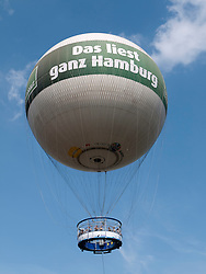 Tourist observation balloon in Hamburg Germany