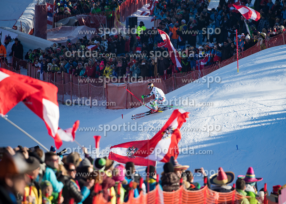 22.01.2017, Hahnenkamm, Kitzbühel, AUT, FIS Weltcup Ski Alpin, Kitzbuehel, Slalom, Herren, 1. Lauf, im Bild Marcel Hirscher (AUT) // Marcel Hirscher of Austria in action during his 1st run of men's Slalom of FIS ski alpine world cup at the Hahnenkamm in Kitzbühel, Austria on 2017/01/22. EXPA Pictures © 2017, PhotoCredit: EXPA/ Johann Groder