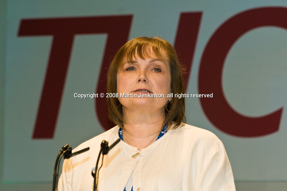 Max Hyde, NUT, speaking at the TUC Conference 2008...© Martin Jenkinson, tel 0114 258 6808 mobile 07831 189363 email martin@pressphotos.co.uk. Copyright Designs & Patents Act 1988, moral rights asserted credit required. No part of this photo to be stored, reproduced, manipulated or transmitted to third parties by any means without prior written permission