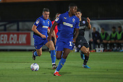 AFC Wimbledon midfielder Anthony Hartigan (8) dribbling during the EFL Trophy (Leasing.com) match between AFC Wimbledon and U23 Brighton and Hove Albion at the Cherry Red Records Stadium, Kingston, England on 3 September 2019.
