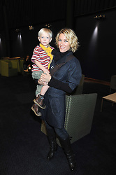 "CERYS MATTHEWS and her son JOHN JONES at a VIP Opening night of Disney & Pixar's ""Finding Nemo on Ice"" at The O2 Arena Grennwich London on 23rd October 2008."