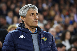 February 28, 2019 - Valencia, Valencia, Spain - Quique Setien of Betis during the Copa del Rey Semi Final match second leg between Valencia CF and Real Betis Balompie at Mestalla Stadium in Valencia, Spain on February 28, 2019. (Credit Image: © Jose Breton/NurPhoto via ZUMA Press)