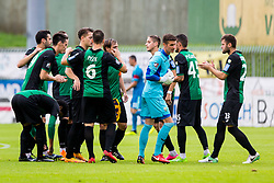 NK Rudar players during football match between NK Rudar Velenje and Maribor in 1st Round of Prva liga Telekom Slovenije 2018/19, on July 22, 2018 in Mestni stadion ob Jezeru, Velenje , Slovenia. Photo by Ziga Zupan / Sportida