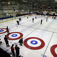 Scottish Junior Curling Championships 2004 taking place at the Dewars Ice Rink in Perth. 19.2.2004.<br /><br />Picture by John Lindsay .<br />COPYRIGHT: Perthshire Picture Agency.<br />Tel. 01738 623350 / 07775 852112.