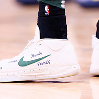 01 April 2018: Close view of Milwaukee Bucks forward Giannis Antetokounmpo (34) shoes during the Denver Nuggets 128-125 victory over the Milwaukee Bucks, at the Pepsi Center, Denver, Colorado, USA.