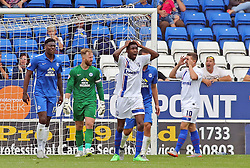 Emmanuel Osadebe of Gillingham rues a missed chance to score - Mandatory byline: Joe Dent/JMP - 07966386802 - 29/08/2015 - FOOTBALL - ABAX Stadium -Peterborough,England - Peterborough United v Gillingham - Sky Bet League One