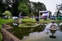 Burton Agnes Hall, Burton Agnes, East Yorkshire, United Kingdom, 27 June, 2014. Annual Jazz Festival. Pictured: Brothers Groove  This Birmingham based band is winning hearts and minds on the UK blues scene