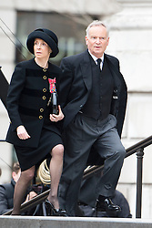 © London News Pictures.17/04/2013. London, UK.   Jeffrey and Mary Archer  arriving at St Paul's Cathedral in London for The Funeral of former British Prime Minister, Margaret Thatcher on April 17, 2013. Photo credit : Ben Cawthra/LNP