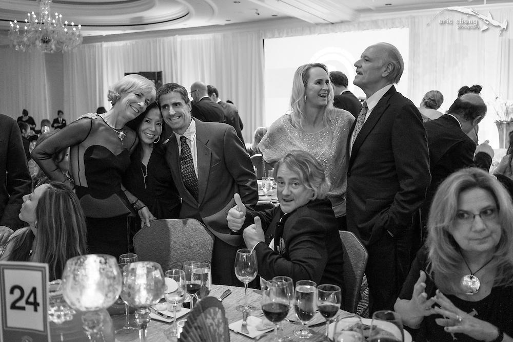 Underwater photography table! Mary O'Malley, Sue Chen, Shawn Heinrichs, Douglas Seifert, Chip and Susan Scarlett; WildAid Gala, November 15, 2014