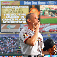 6.24.08 Omar Vizquel Returns to Cleveland