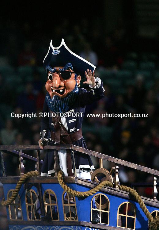 9 April, 2004. Rugby Union Super 12. Eden Park, Auckland, New Zealand. Blues v Bulls.<br />Blues Mascot.<br />Pic: Andrew Cornaga/Photosport