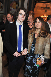 SAMUEL SPIKE and ALEXANDRA SHULMAN at a private view to celebrate the opening of the Royal Academy's exhibition of work by David Hockney held at The Royal Academy, Burlington House, Piccadilly, London on 17th January 2012.