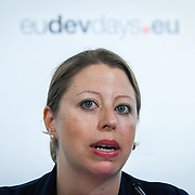 20160616 - Brussels , Belgium - 2016 June 16th - European Development Days - Promoting young people as peacebuilders  - Sonya Reines-Djivanides , Executive Director , European Peacebuilding Liaison Office - Moderator © European Union