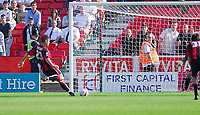 Photo: Leigh Quinnell.<br /> Bournemouth v Swansea City. Coca Cola League 1. 14/10/2007. Lee Bradbury slots home a penalty for Bournemouth.