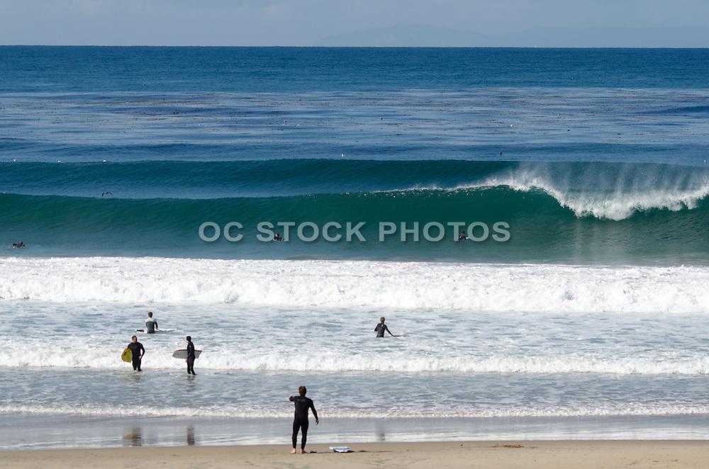 Surfers at Salt Creek Beach in Dana Point California