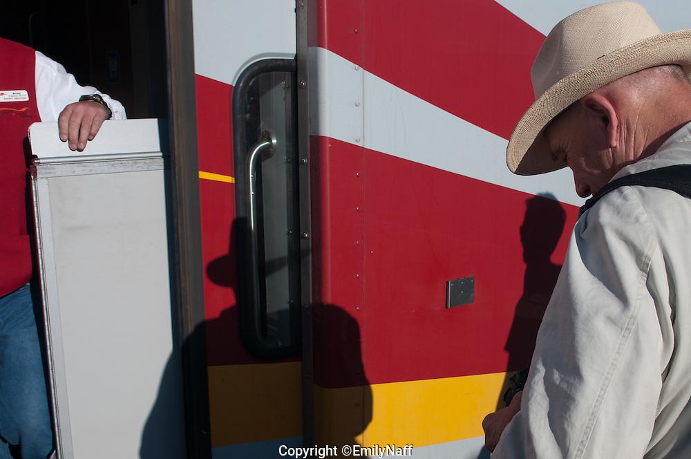 Rail Runner Train from Santa Fe to Albuquerque, New Mexico