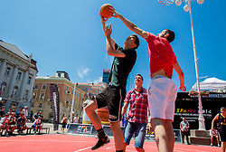 Tomislav Zubcic and Luka Babic at FIBA Basketball World Cup Spain 2014 Trophy Tour, on June 22, 2014 in Ban Jelacic Square, Zagreb, Croatia. Photo By Vid Ponikvar / Sportida