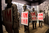 Memphis, Tennessee- November 5, 2014: The National Civil Rights Museum resides at the Lorraine Motel, where Dr. Martin Luther King Jr. was assassinated on April 4, 1968. The highly interactive museum traces the Civil Rights Movement all the way back to the 17th century. CREDIT: Chris Carmichael for The New York Times