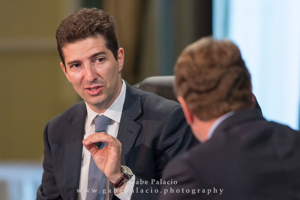 The Wall Street Journal Viewpoints Executive Breakfast Series featuring Dennis K. Berman<br /> Business Editor of The Wall Street Journal  in New York City on September 24, 2014. (photo by Gabe Palacio)