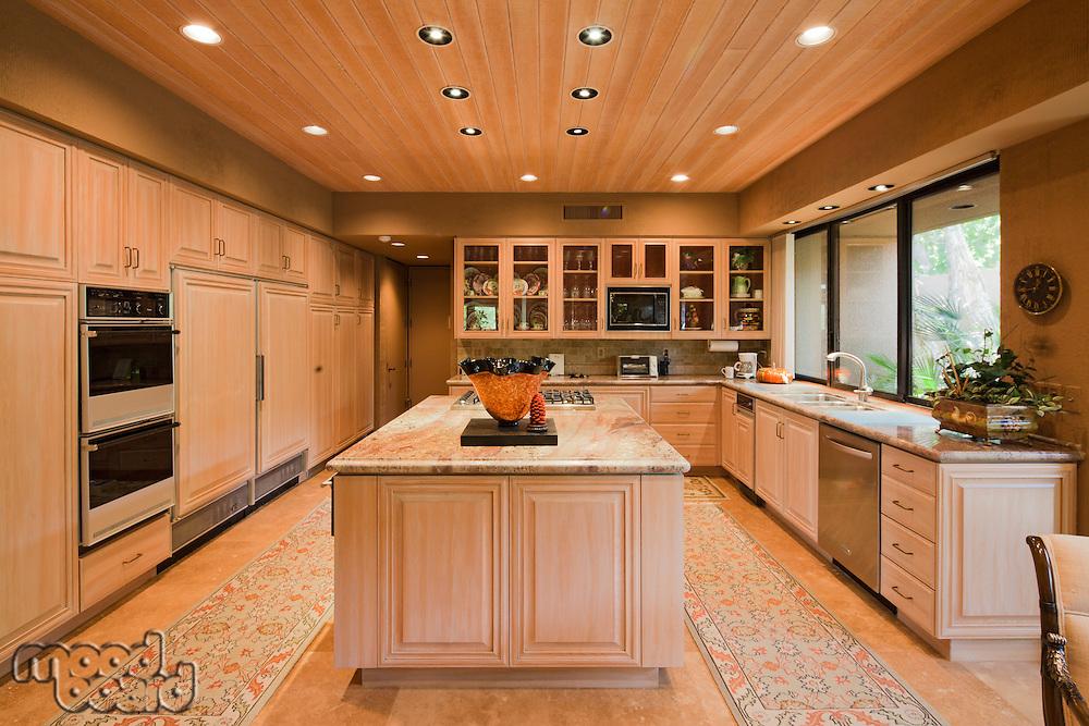 Contemporary kitchen in luxury villa