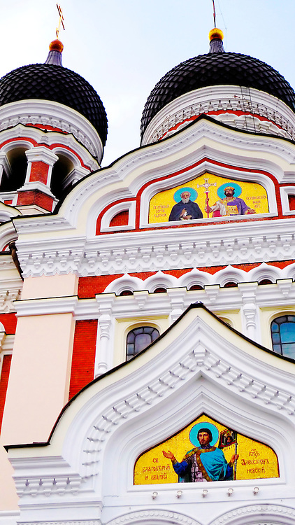 Facede of Orthodox church of Tallin