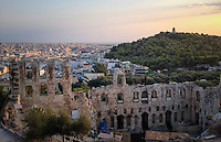 Athens, Greece- September 10, 2014: Perched high above the city lies the Acropolis, one of the most recognizable historical sites in the world. The Acropolis is the site of many ancient ruins, including the Odeon of Herodes Atticus, a stone amphitheater built in 161 AD. CREDIT: Chris Carmichael for The New York Times