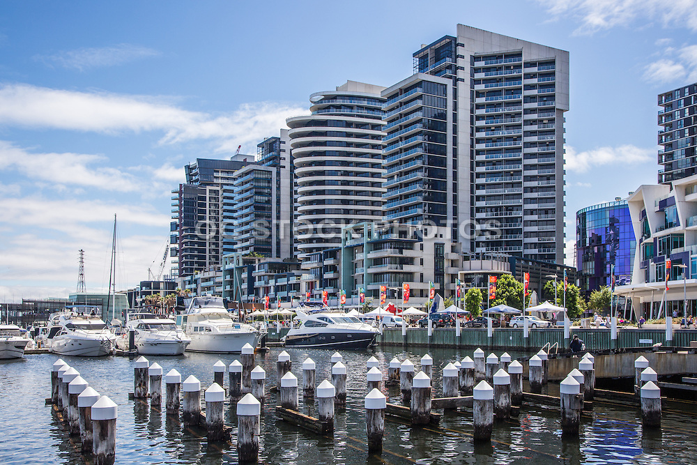 Melbourne City Marina at Docklands in Waterfront City