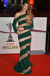 © Licensed to London News Pictures. 14/12/2016. AMY WILLERTON attends The Sun newspaper Millies Military Awards 2016 at Guildhall <br /> London, UK. Photo credit: Ray Tang/LNP