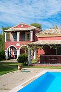 Hotel Villa de Loulia, traditional Corfiot villa style with swimming pool in Peroulades in Northern Corfu, Ionian Islands, Greece