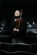 Boston, Ma-- Jan. 3, 2006   Marvin Moon (cq) is a viola player with the Boston Symphony Orchestra.  He is featured in the Taking Off section of the Sunday Globe Magazine. photo by essdras/ globe staff