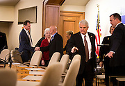 MADISON, WI – DECEMBER 19: Wisconsin Presidential electors enter their meeting room to cast their ten electoral votes for Donald J. Trump on Monday, December 19, 2016.