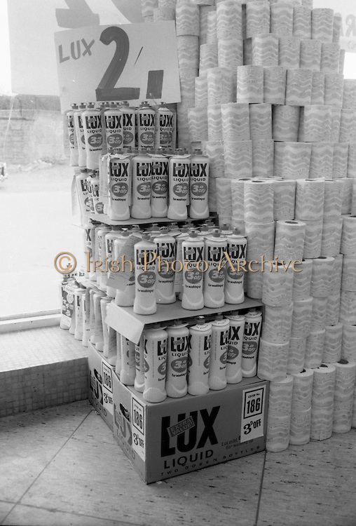 16/3/1966<br /> 3/16/1966<br /> 16 March 1966<br /> <br /> Lux Liquid Display at Quinn Supermarket on Fingal St.