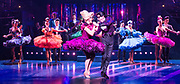 Strictly Ballroom <br /> By Baz Luhrmann <br /> At The Piccadilly Theatre, London, Great Britain <br /> Press photocall <br /> 17th April 2018 <br /> <br /> <br /> Anna Francolini as Shirley Hastings<br /> Stephen Matthews as Doug Hastings  <br /> <br /> And company