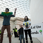 The Reclaim Shakespeare Company did four performances in the court yard of the British Museum supported by a large flash-mob  audience. The company is made up of activists who wants The Royal Shakespeare company stop accepting sponsorship from the oil company BP. BP also sponsor the Tate museums and the British Museum. The flashmob was organised by the anti-oil activist groups The Reclaim Shakespeare Company,.Rising Tide, Liberate Tate, the UK Tar Sands Network and Art Not Oil. The Royal Shakespeare Company has publicly announced they will stop their partnership with BP and the performance was therefor the last by the Reclaim the Shakespeare Company activists after a long run of successful interventions.