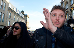 © Licensed to London News Pictures. 04/12/2012..Saltburn, England..The X Factor finalist James Arthur visits his home town of Saltburn by the Sea in Cleveland. Accompanied by his mentor through the series, Nicole Scherzinger, they visited the Victoria Pub on Dundas Street in the town. During the visit they were greeted by hundreds of people from the town and the surrounding area...Later that evening James Arthur was performing at the Middlesbrough Town Hall in front of many hundreds of local fans...Photo credit : Ian Forsyth/LNP