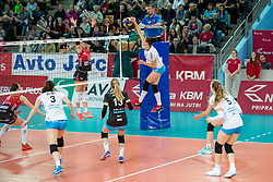 Tina Grudina of Calcit Ljubljana during volleyball match between Nova KBM Branik and Calcit Volleyball Ljublana in Final of 1. DOL Slovenian Women National Championship 2016/17, on April 21, 2017 in Tabor, Maribor, Slovenia. Photo by Matic Klansek Velej / Sportida