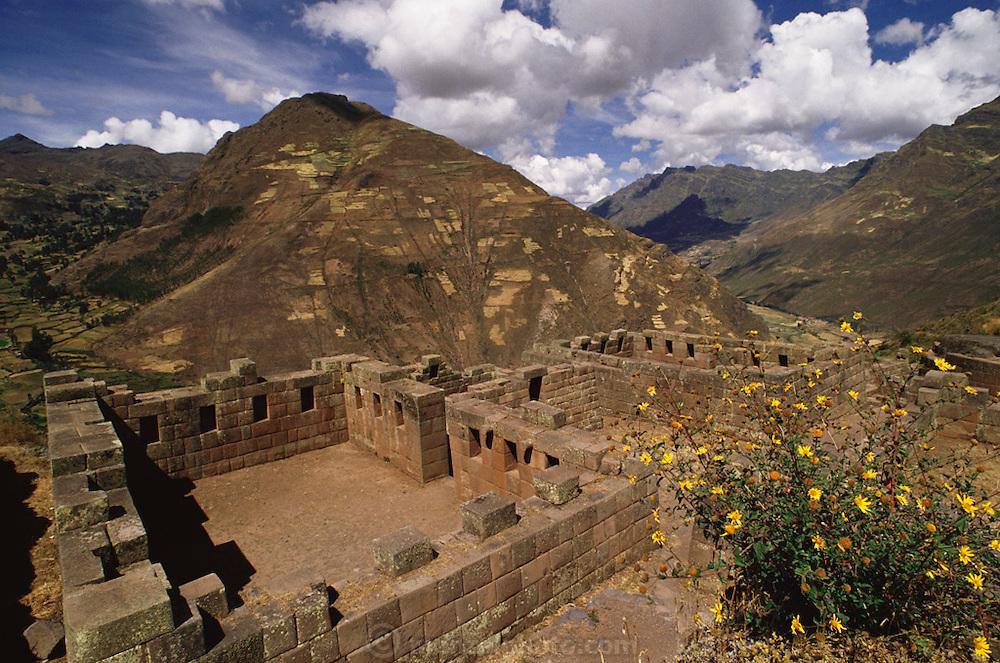 Inca ruins at Pisac, Peru.
