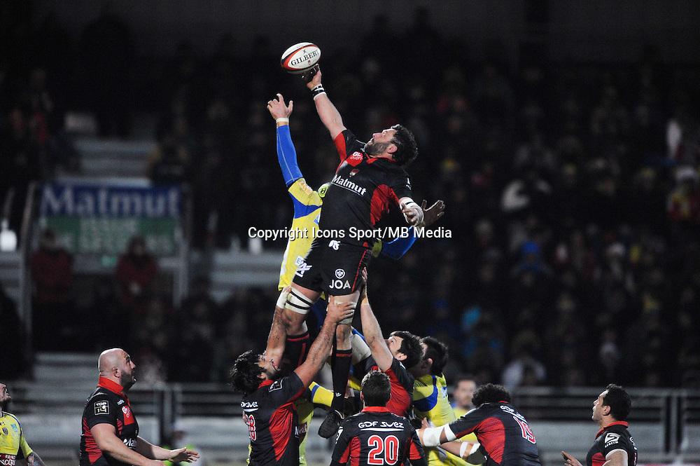 Lionel Nallet  - 28.12.2014 - Lyon Olympique / Clermont - 14eme journee de Top 14 <br />Photo : Jean Paul Thomas / Icon Sport