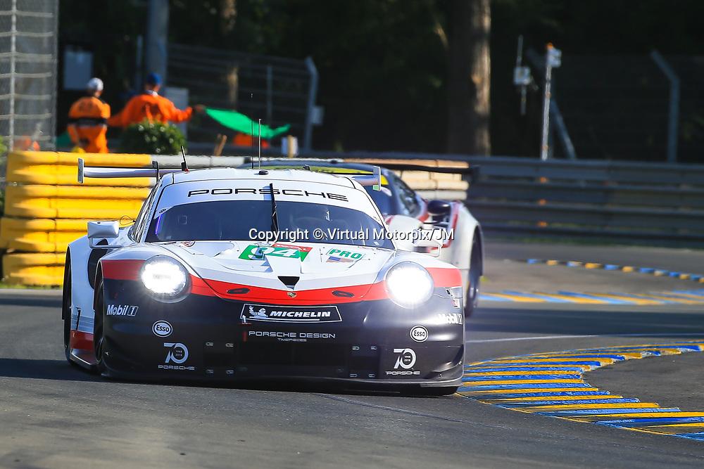 #94, Porsche Motorsport, Porsche 911 RSR, LMGTE Pro, driven by:  Romain Dumas, Timo Bernhard, Sven Muller, 24 Heures Du Mans  2018, , 16/06/2018,