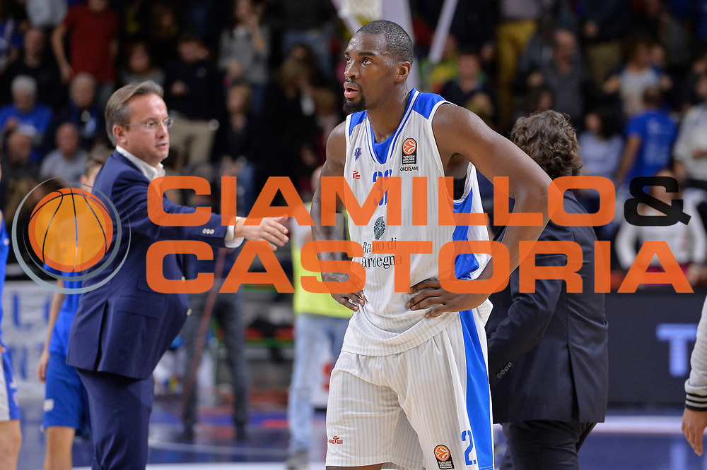 DESCRIZIONE : Eurolega Euroleague 2015/16 Group D Dinamo Banco di Sardegna Sassari - Brose Basket Bamberg<br /> GIOCATORE : Jarvis Varnado<br /> CATEGORIA : Ritratto Delusione Postgame<br /> SQUADRA : Dinamo Banco di Sardegna Sassari<br /> EVENTO : Eurolega Euroleague 2015/2016<br /> GARA : Dinamo Banco di Sardegna Sassari - Brose Basket Bamberg<br /> DATA : 13/11/2015<br /> SPORT : Pallacanestro <br /> AUTORE : Agenzia Ciamillo-Castoria/L.Canu