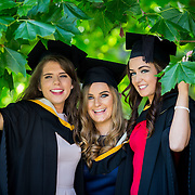 "25.08.2016          <br />  Faculty of Business, Kemmy Business School graduations at the University of Limerick today. <br /> <br /> Attending the conferring were Bachelor of Business Studies graduates, Josephine Farrell, Craughwell Co. Galway, Amanda Hannon, Dunmore Co. Galway and Kellie Quinn, Lisdowney Co. Kilkenny. Picture: Alan Place<br /> <br /> <br /> As the University of Limerick commences four days of conferring ceremonies which will see 2568 students graduate, including 50 PhD graduates, UL President, Professor Don Barry highlighted the continued demand for UL graduates by employers; ""Traditionally UL's Graduate Employment figures trend well above the national average. Despite the challenging environment, UL's graduate employment rate for 2015 primary degree-holders is now 14% higher than the HEA's most recently-available national average figure which is 58% for 2014"". The survey of UL's 2015 graduates showed that 92% are either employed or pursuing further study."" Picture: Alan Place"