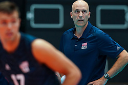 09-08-2019 NED: FIVB Tokyo Volleyball Qualification 2019 / Belgium 0 USA, Rotterdam<br /> First match pool B in hall Ahoy between Belgium vs. USA (1-3) for one Olympic ticket / Coach Hohn Speraw of USA