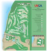 Vector map created by Mirto Art Studio of the 2015 USGA U.S. Open course, held at Chambers Bay Golf Course. Chambers Bay is a public golf course in University Place, Washington, on Puget Sound southwest of Tacoma. The British links-style course is owned by Pierce County. Chambers Bay was designed by Robert Trent Jones, Jr. The 250-acre course is the centerpiece of a 930-acre county park.