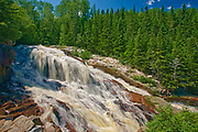 Waterfalls on RiviereJean-Raymond, Cote Nord, Quebec, Canada