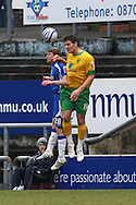 Oldham - Saturday February 26th, 2010 :  Chris Martin of Norwich and Joe Colbeck of Oldham in action during the Coca Cola League One match at Boundary Park, Oldham. (Pic by Paul Chesterton/Focus Images)..