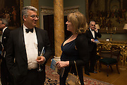 ADRIAN SASSOON, HANNAH ROTHSCHILD, Professor Mikhail Piotrovsky Director of the State Hermitage Museum, St. Petersburg and <br /> Inna Bazhenova Founder of In Artibus and the new owner of the Art Newspaper worldwide<br /> host THE HERMITAGE FOUNDATION GALA BANQUET<br /> GALA DINNER <br /> Spencer House, St. James's Place, London<br /> 15 April 2015
