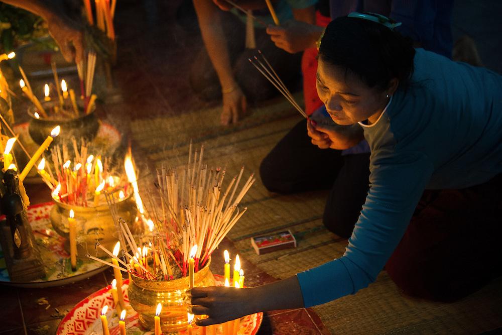 วันอาสาฬหบูชา The beginning of Buddhist Lent, Nakhon Nayok, Thailand