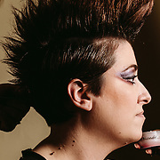 PROVIDENCE, RI - FEB 16: Katie Pak's fantastic mohawk prior to the ASK Fashion show as part of StyleWeek NorthEast on February 16, 2015 in Providence, Rhode Island. (Photo by Cat Laine)