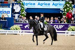 Werth Isabell, GER, Weihegold OLD<br /> Göteborg - Gothenburg Horse Show 2019 <br /> FEI Dressage World Cup™ Final II<br /> Grand Prix Freestyle/Kür<br /> Longines FEI Jumping World Cup™ Final and FEI Dressage World Cup™ Final<br /> 06. April 2019<br /> © www.sportfotos-lafrentz.de/Stefan Lafrentz