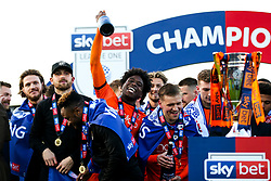 Pelly Ruddock is all smiles as Luton Town celebrate securing automatic promotion from Sky Bet League 1 to the Sky Bet Championship - Rogan/JMP - 04/05/2019 - Kenilworth Road - Luton, England - Luton Town v Oxford United - Sky Bet League One.